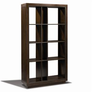 Artistry Open Equinox Bookcase With Metal Details By Harden Furniture