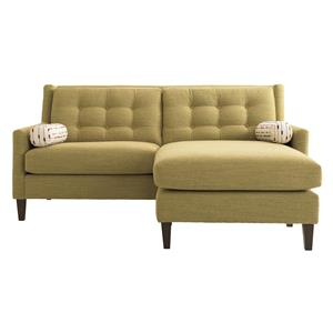 Chelsea City Center Upholstery Sofa With Flip Flop Chaise By HGTV Home Furniture Collection