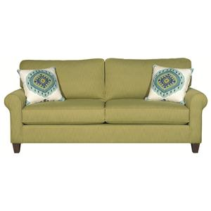 Greenwich Casual Styled Sofa Two Cushions By HGTV Home Furniture Collection