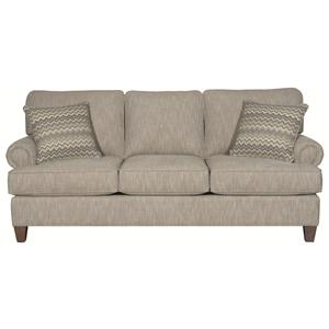 Sutherland Traditional Styled 3 Cushion Queen Sleeper By HGTV Home Furniture Collection