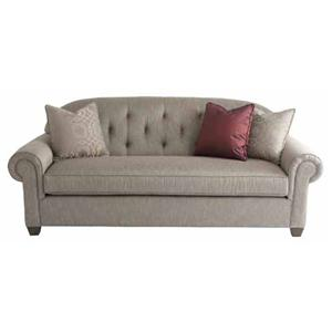 Upholstery Wilshire Sofa With Traditional Den Room Style Tufted Seat Back And Rolled Arms By HGTV Home Furniture Collection