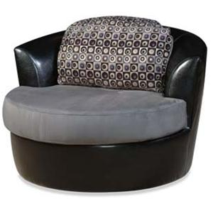 475 And 660 Casual Contemporary Swivel Tub Chair By Hillcraft