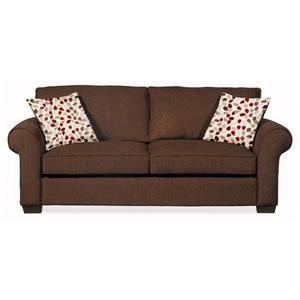 Ordinaire 640 Casual Queen Sofa Sleeper With Rolled Arms By Hillcraft