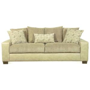 Merveilleux 6810 Contemporary Sofa With Track Arms And Pillow Back By Hillcraft