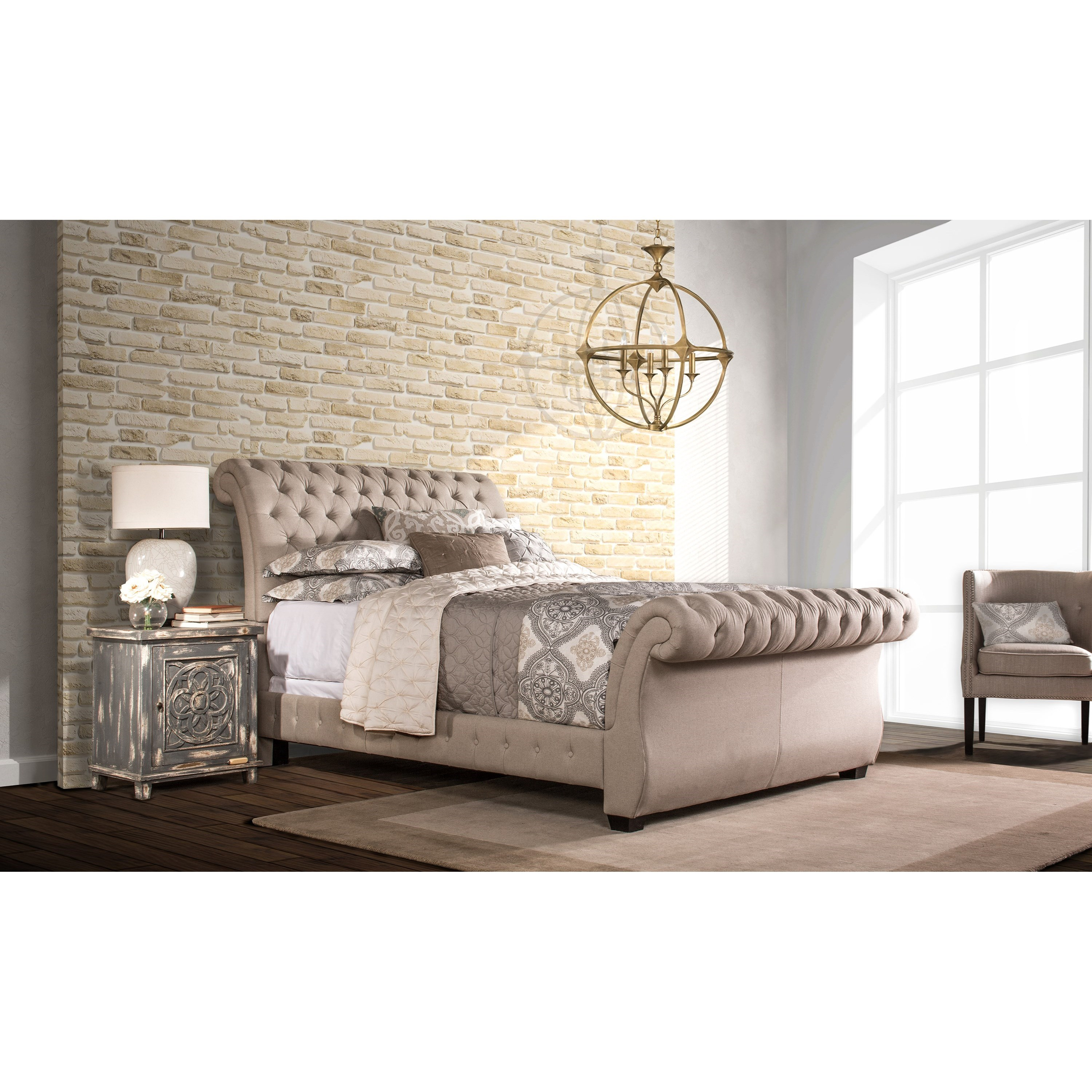 Hillsdale Upholstered Beds 1118BQRL Queen Bombay Upholstered Bed ...