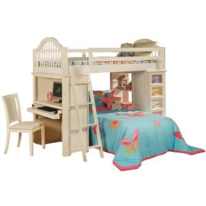 My Room Twin Loft Bed With Desk Unit And Chest By Holland House