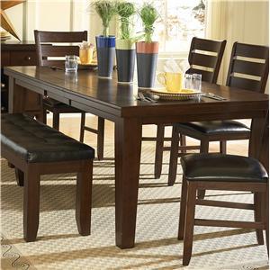 Ordinaire Ameillia Rectangular Dining Table, Dark Oak Finish By Homelegance