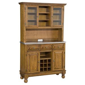 Premier Buffet Of Buffets Stainless Steel Top Server U0026 Two Door Hutch By Home  Styles