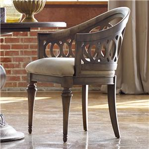 Mélange Cambria Dining Chair With Interlocking Fretwork By Hooker Furniture