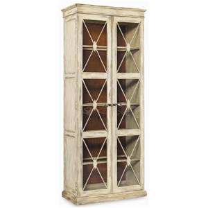 Elegant Sanctuary Two Door Thin Display Cabinet By Hooker Furniture