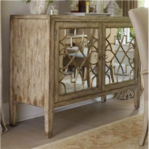 Beau Sanctuary Two Door Mirrored Console By Hooker Furniture