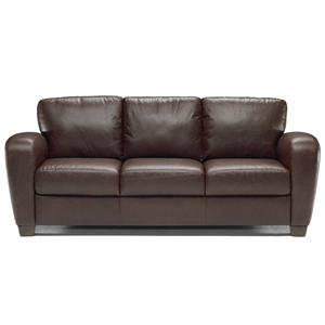 I 217 Stationary Leather Sofa By Italsofa