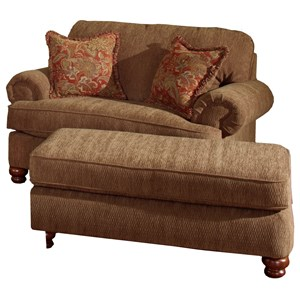 Belmont Chair And A Half U0026 Ottoman By Jackson Furniture