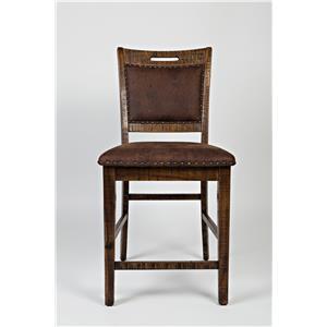 Upholstered Back Counter Stool