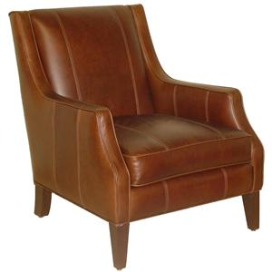 Accentuates Miles Contemporary Leather Accent Chair By Jonathan Louis