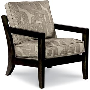 Chairs Gridiron Exposed Wood Chair By La Z Boy