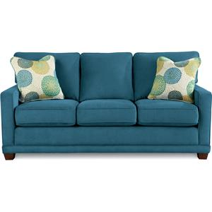 Kennedy Transitional Sofa With Wood Legs And Welt Cord By La Z Boy