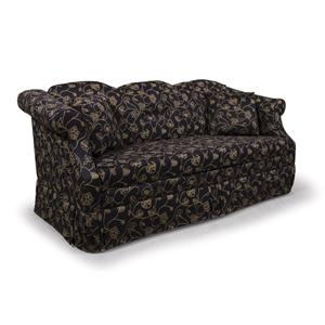 HomeSpun Sofa With Rolled Arms And Skirted Base By Lancer