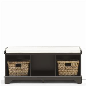 Entry Bench with Accent Baskets