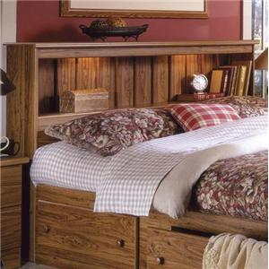 Full Bookcase Headboard with Lights