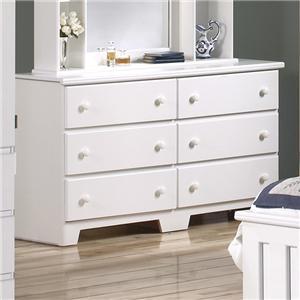 57 Inch 6 Drawer Dresser