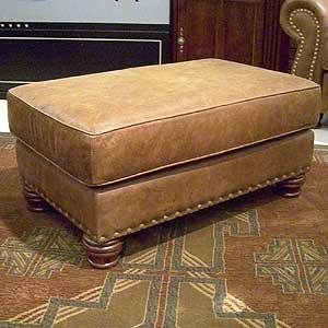 Nogalas Ottoman U0026 1/2 By Legacy Leather