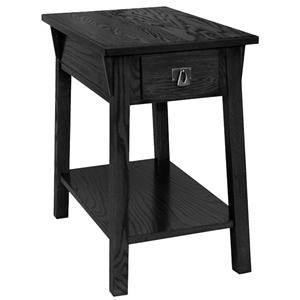 favorite finds mission chairside table with drawer and shelf by leick furniture