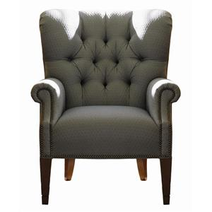 lexington upholstery wilton tufted back wing chair by lexington
