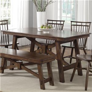 Rectangular Trestle Table