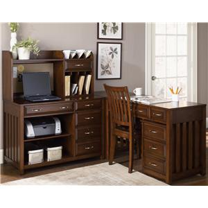 L-Shaped Desk with File Cabinet