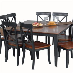 Contemporary Casual Contemporary Leaf Dining Table By Ligo Products