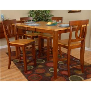 Contemporary 5 Piece Counter Height Table And Casey Chair Set By Ligo  Products