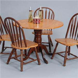 Country Classics Empire Drop Leaf Round Dining Table By Ligo Products