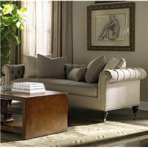 Custom Upholstery Thompson Traditional Chesterfield Sofa With Casters By Lillian  August
