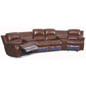 XW8251N Motion 4 Person Theater Seating With Storage Consoles And  Cupholders By Cheers Sofa