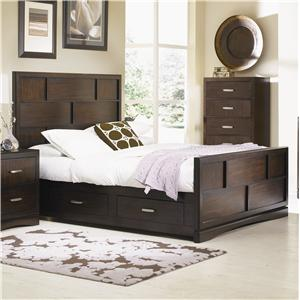 Cal King Panel Bed with Storage