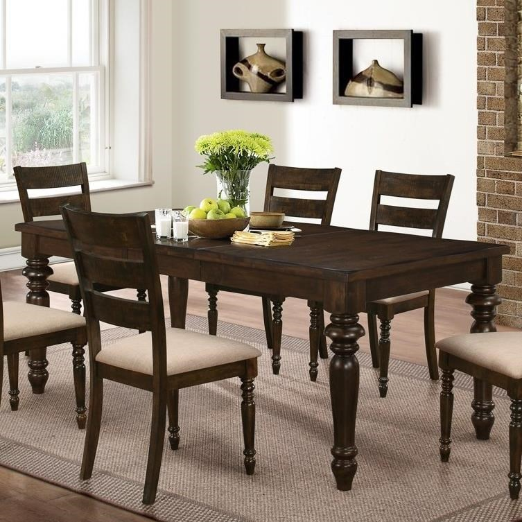 All wood dining room