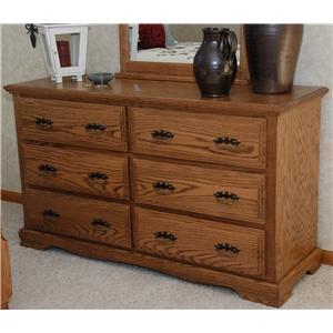 Oakwood Traditional Bedroom Traditional Dresser W  Drawers By Oakwood Industries