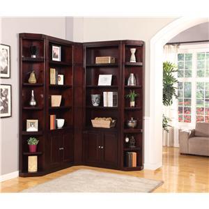 Boston Corner Bookcase Unit By Parker House