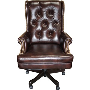 Desk Chairs Executive Chair With Tufted Back By Parker Living