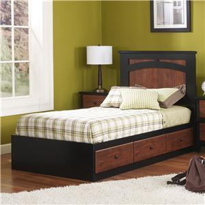 Twin Mates Bed with Panel Headboard