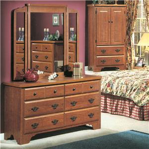 6-Drawer Dresser & Wing Mirror Set