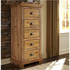 Exceptional Willow Distressed Pine Lingerie Chest By Progressive Furniture