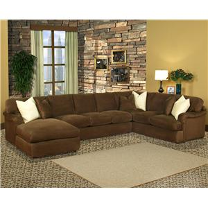 Mainstreet Chaise And Sofa Section By Robert Michael