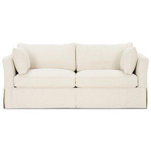 Darby Upholstered Slipcover Stationary Sofa By Rowe