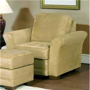 4900 Comfortable Club Chair With Modern Living Room Style By Serta  Upholstery By Hughes Furniture