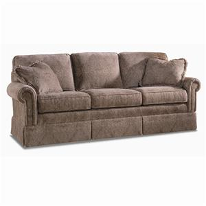 Traditional Lawson Sofa With Rolled Panel Arms By Sherrill