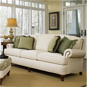 358 Traditional Upholstered Sofa Ft Nail Head Trim By Smith Brothers