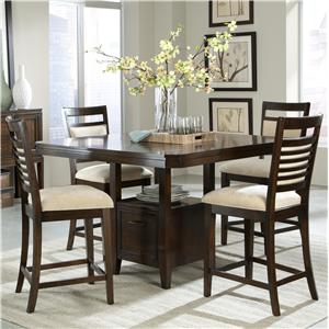 5 Piece Counter Height Table Set