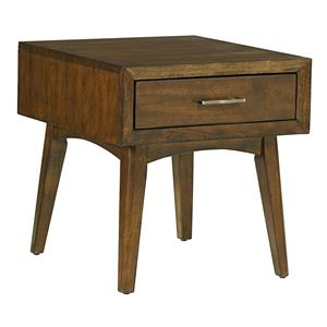 Roxbury Mid Century Modern 1 Drawer End Table With Splayed Legs By Standard  Furniture
